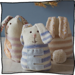 Personalised Stripy Rabbit