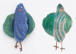 exhibition blue birds together