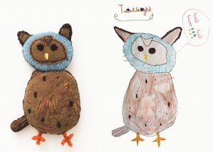 exhibition owls  2 together