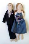 Personalised Bride And Groom Dolls
