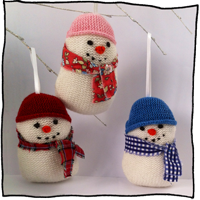 hand knitted snowman by Laura Long